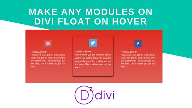 Make Any Modules on Divi Float on Hover