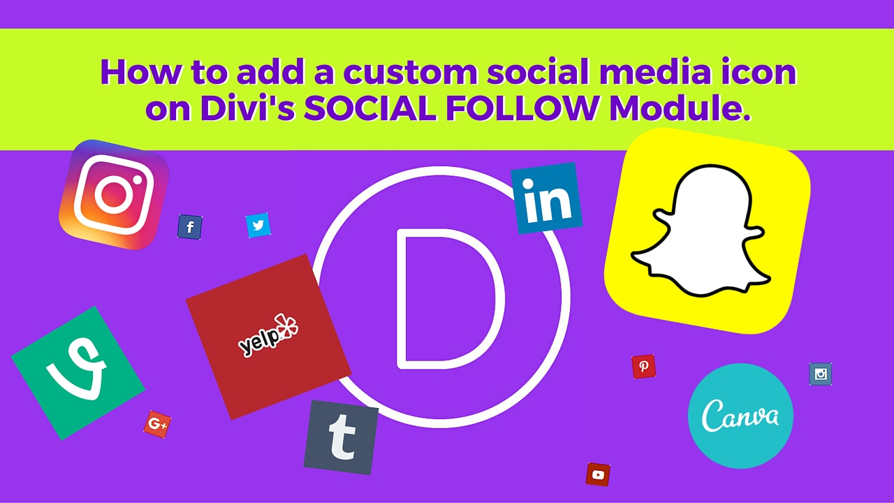 Add Custom Social Media Icons on Divi SOCIAL FOLLOW Module