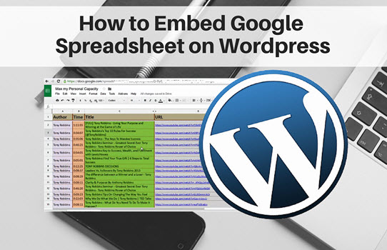 How to Embed Google Spreadsheet on WordPress