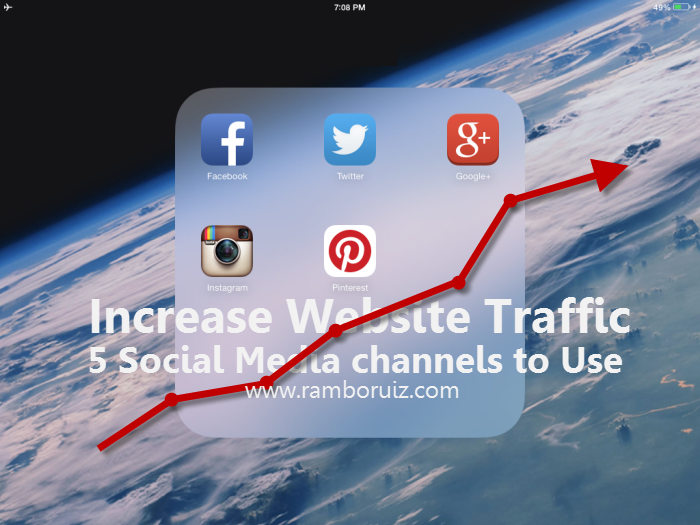 Increase Website Traffic – 5 Social Media channels to Use